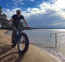 Jim cruising the beach