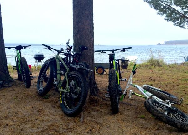 Bikes taking five...