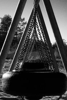 Abandoned swings